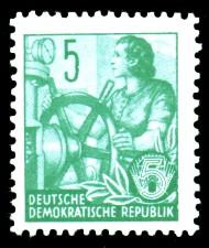 5 Pf Briefmarke: Fünfjahresplan
