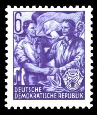 6 Pf Briefmarke: Fünfjahresplan