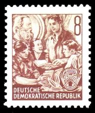 8 Pf Briefmarke: Fünfjahresplan