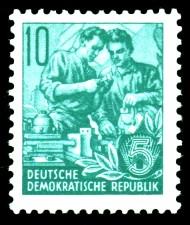 10 Pf Briefmarke: Fünfjahresplan