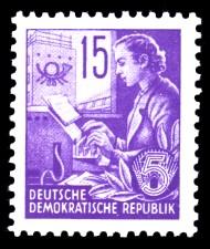 15 Pf Briefmarke: Fünfjahresplan