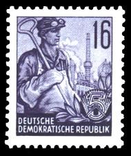 16 Pf Briefmarke: Fünfjahresplan