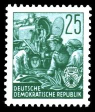 25 Pf Briefmarke: Fünfjahresplan
