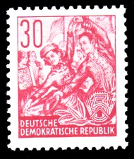 30 Pf Briefmarke: Fünfjahresplan