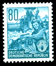 80 Pf Briefmarke: Fünfjahresplan