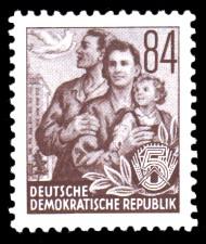 84 Pf Briefmarke: Fünfjahresplan