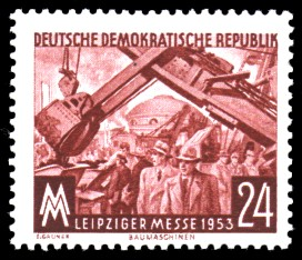 24 Pf Briefmarke: Leipziger Herbstmesse 1953