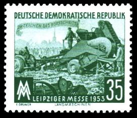 35 Pf Briefmarke: Leipziger Herbstmesse 1953
