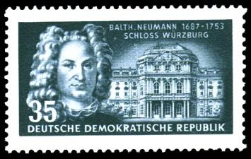 35 Pf Briefmarke: 200. Todestag Balthasar Neumann