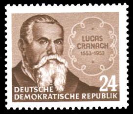 24 Pf Briefmarke: 400.Todestag von Lucas Cranach
