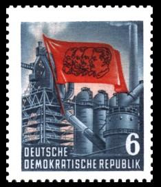 6 Pf Briefmarke: Karl Marx Jahr