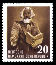 20 Pf Briefmarke: Karl Marx Jahr