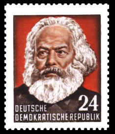 24 Pf Briefmarke: Karl Marx Jahr