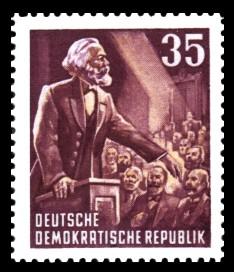 35 Pf Briefmarke: Karl Marx Jahr