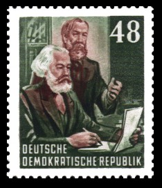 48 Pf Briefmarke: Karl Marx Jahr