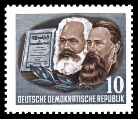 10 Pf Briefmarke: Karl Marx Jahr