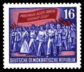 16 Pf Briefmarke: Karl Marx Jahr