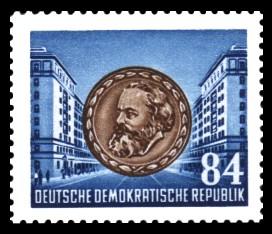 84 Pf Briefmarke: Karl Marx Jahr