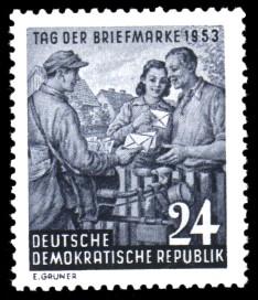 24 Pf Briefmarke: Tag der Briefmarke 1953