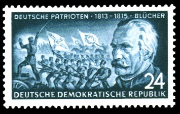 24 Pf Briefmarke: Deutsche Patrioten, Blücher