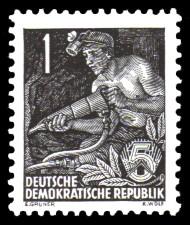 1 Pf Briefmarke: 2.Ausgabe Fünfjahresplan