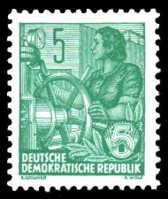 5 Pf Briefmarke: 2.Ausgabe Fünfjahresplan