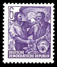 6 Pf Briefmarke: 2.Ausgabe Fünfjahresplan