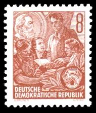 8 Pf Briefmarke: 2.Ausgabe Fünfjahresplan
