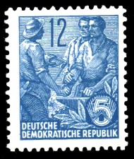 12 Pf Briefmarke: 2.Ausgabe Fünfjahresplan