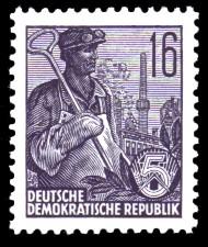 16 Pf Briefmarke: 2.Ausgabe Fünfjahresplan