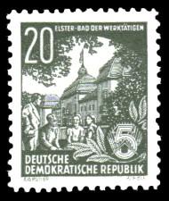 20 Pf Briefmarke: 2.Ausgabe Fünfjahresplan