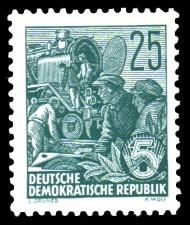25 Pf Briefmarke: 2.Ausgabe Fünfjahresplan