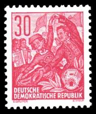 30 Pf Briefmarke: 2.Ausgabe Fünfjahresplan