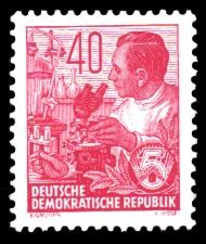 40 Pf Briefmarke: 2.Ausgabe Fünfjahresplan