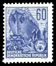 60 Pf Briefmarke: 2.Ausgabe Fünfjahresplan