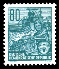 80 Pf Briefmarke: 2.Ausgabe Fünfjahresplan