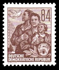 84 Pf Briefmarke: 2.Ausgabe Fünfjahresplan