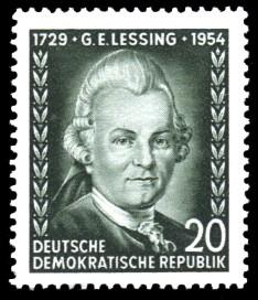 20 Pf Briefmarke: 225. Geburtstag von G.E.Lessing
