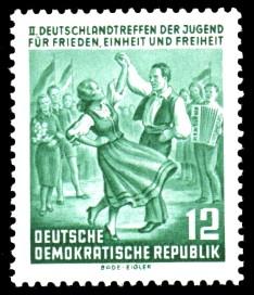 12 Pf Briefmarke: 2. Deutschlandtreffen der Jugend in Berlin
