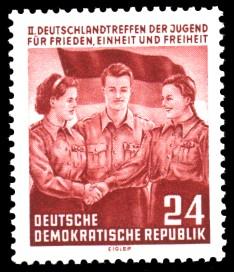 24 Pf Briefmarke: 2. Deutschlandtreffen der Jugend in Berlin
