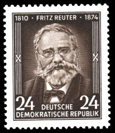 24 Pf Briefmarke: 80. Todestag von Fritz Reuter