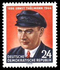24 Pf Briefmarke: 10. Todestag von Ernst Thälmann
