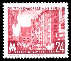 24 Pf Briefmarke: Leipziger Messe 1954