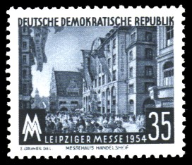 35 Pf Briefmarke: Leipziger Messe 1954
