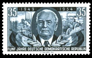 35 Pf Briefmarke: 5 Jahre Deutsche Demokratische Republik