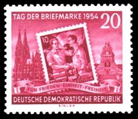 20 Pf Briefmarke: Tag der Briefmarke 1954