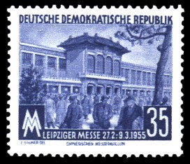 35 Pf Briefmarke: Leipziger Frühjahrs-Messe 1955