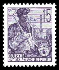 15 Pf Briefmarke: Freimarke Fünfjahresplan