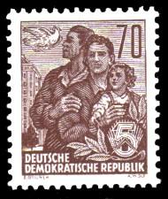 70 Pf Briefmarke: Freimarke Fünfjahresplan
