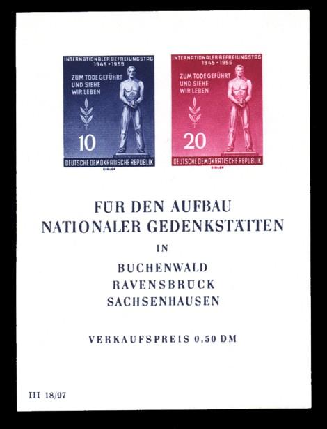 0,50 DM Briefmarke: Blockausgabe - Internationaler Befreiungstag